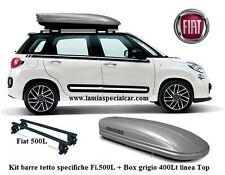 FIAT 500 L  CON BOX BAULE TETTO  400 LT +  BARRE PORTAPACCHI SPECIFICO .