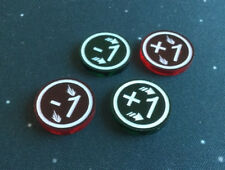 X-Wing Miniatures compatible, acrylic Weapon + agility modifier tokens x 4