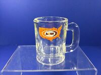 "Vintage, 3-1/4"", A & W US Map Logo Root Beer Glass Mug"