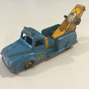 Vintage Budgie Model Blue Towing Tender Breakdown Tow Wrecker Truck 1:43 England