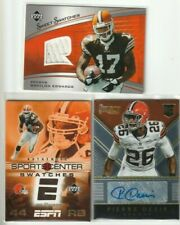 Browns Lot of 3 Auto Relic Patch Lee Suggs Pierre Desir Braylon Edwards