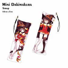 KonoSuba Megumin Mini Dakimakura Anime Pendant Keychain Phone Chain Bag Hanging