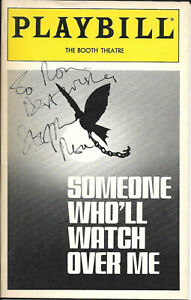 Stephen Rea (Crying Game) Signed Playbill April 1993 SOMEONE TO WATCH OVER ME