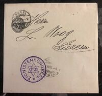 1905 Basel Switzerland Zionist Congress Wrapper Cover To Lucerne