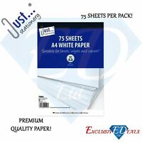 Tallon A4 White Copy Printing Paper 80gsm Premium Quality 75 Sheets Per Pack