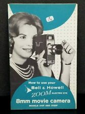 ORIGINAL! Bell & Howell 310F and 312DF ZOOM 8mm camera Manual Instructions Book