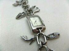 FOSSIL Shoe Charm Silver Bracelet Watch Needs Battery