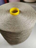 100% linen yarn 1.400kg cone , for hand , machine knitting ,crochet , natural