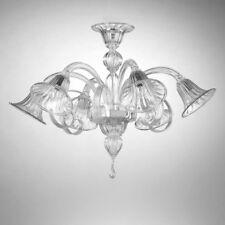 Titano plafonnier en verre de Murano 6 lumières cristal