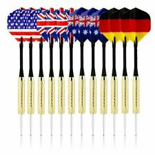 BriteNway Premium Quality Set of 12 Darts for Dartboard Game - National Flags