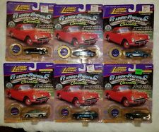 Lot of 6 Classic Customs Corvettes Johnny Lightning Die Cast. Rare (G15)