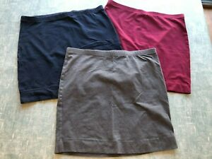 H&M short t shirt skirts in grey, red and navy blue size s