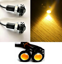 COPPIA MINI FRECCE MICRO LUCI PICCOLE UNIVERSALI AUTO MOTO CAFE RACER 18MM LED