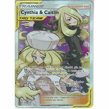 Cynthia & Caitlin 228/236 Full Art Supporter Pokemon Card (SM Cosmic Eclipse)