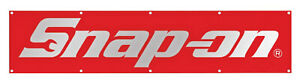 Snap On Flag Tools Banner in Red Color 2X8FT Banner US Shipper
