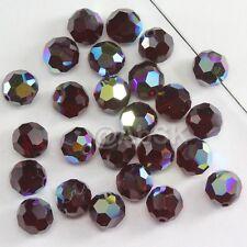 100 pieces Swarovski Element 5000 4mm Round Ball Beads Crystal Garnet AB *SALE*