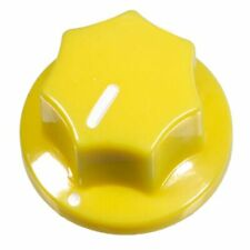 10x Yellow Fluted Mxr Style Knob for guitar pedals