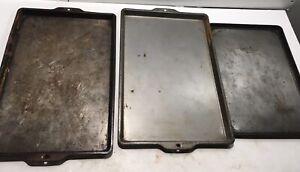 Vintage Ekco & Bake King Baking Oven Cookie Sheet Pan Tray Lot Of 3