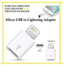 Nuevo Lightning A Micro Usb Adaptador Blanco para iPhone 5s 6 6S 7 Plus iPad