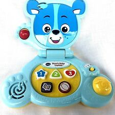 Vtech Bears Baby Laptop Computer Blue Educational Toy Shapes Numbers Music