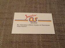Pele / Junior A Question of Sport game card 1990 #183 football Brazil