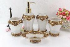 5pcs/set Bathroom Accessories Modern Accessory Dish Dispenser Soap Holder