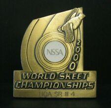 Nssa World Skeet Championships 2000 Award Pin Quail Bird Trademark Hoa Sr Iii 4