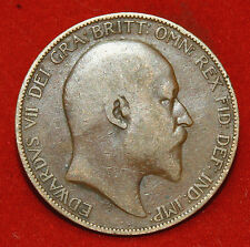 UK One Penny 1907 Edward VII KM# 794.2 Sp# 3990