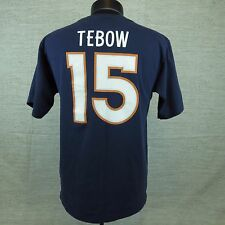 NFL Tim Tebow  15 Broncos Small Blue Mens T Shirt