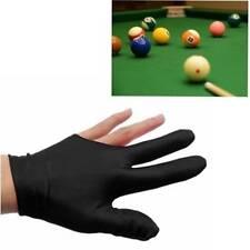 Black Spandex Snooker Billiard Cue Gloves Pool Left Hand Open Three Finger Glove