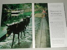 1960 C&O CANAL magazine article, along the Potomac history preservation color