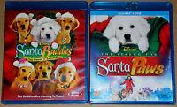 Disney Blu-ray Lot - Santa Buddies (Used) The Search for Santa Paws (New)