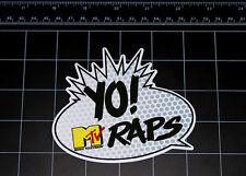 YO! Mtv RAPS old school retro 80's 90's decal sticker DJ rap Hip hop music cd vj
