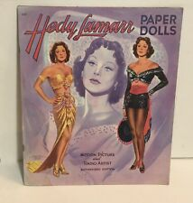 HEDY LAMARR Original,Uncut Paper Dolls Circa 1951 Saalfield Pub.