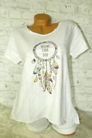 Italy New Collection T-Shirt weiß Dreamcatcher Gr. 36 38 40 42 blogger Strass