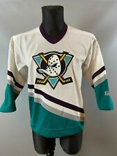 ANAHEIM MIGHTY DUCKS VINTAGE NHL HOCKEY JERSEY SHIRT CCM BOYS SIZE L