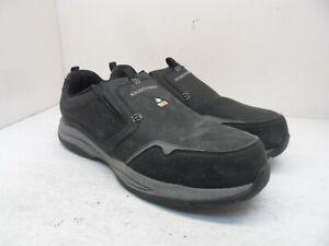SKECHERS WORK Men's Slip-On Steel Toe Composite Plate Shoe 99999066 Black 14M