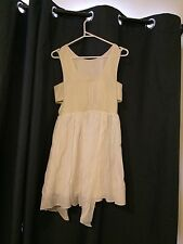 KEEPSAKE THE LABEL Womens XS White Dress Cream Gold XS 8 - 10 Cute Summer Party