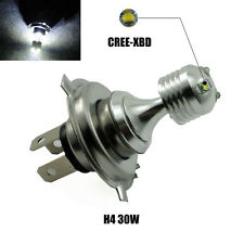 1 x CREE XBD Motorcycle H4 30W White LED Fog Light Bulb 1300Lum Driving Lamp