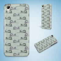 CUTE WINTER FOX PATTERN HARD CASE COVER FOR HTC ONE M7 M8 M9 M9+