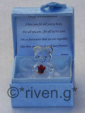 HUSBAND@Teddy Bear@Box & MY LOVE Verse@Glass@Red Rose@VALENTINES@Gift Set@WIFE