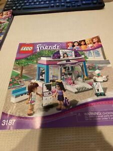 """LEGO  3187 FRIENDS  """"BUTTERFLY BEAUTY SHOP""""  Building Manual"""