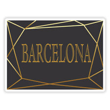City Sticker Laptop Luggage #17040 2 x 10cm Barcelona Spain Vinyl Stickers