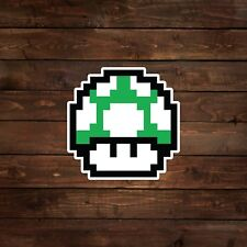 8-Bit 1-Up Green Mushroom (Super Mario) Decal/Sticker