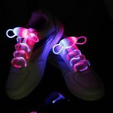 Rainbow Replaceable LED Flash Light Up Shoelaces Glow Shoe Lace Strap Shoelaces