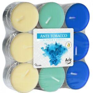 18 Bougies Chauffe-Plat Senteur Anti Tabac Parfum d'Ambiance Intérieur