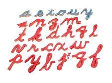 NEW Montessori Language Material - Large Cursive Movable Alphabet Letters Only