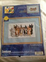 Suzy's Zoo Counted Cross Stitch Kit Tails Duckport Janlynn Vtg Cats Needlecrafts