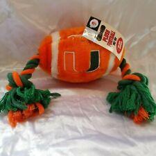 University of Miami Football Collegiate Tug Rope Plush Pet Toy