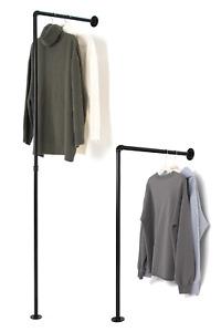 Kleiderstange Kleiderständer Garderobe Stange Wandmontage Kleiderschrank Wand